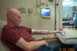 Third round of chemotherapy in 2006. I've come a long way since then.