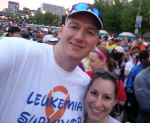 Getting ready to walk 13.1 with my wife.
