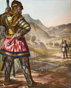 The story of David and Goliath is often misunderstood, particularly as it relates to David's size, but should we really be interpreting it according to Keller's Christocentric approach? Image from http://www.biblepictures.org/.