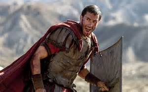 Joseph Fiennes plays Clavius, seen here leading his troops into battle against some zealots.